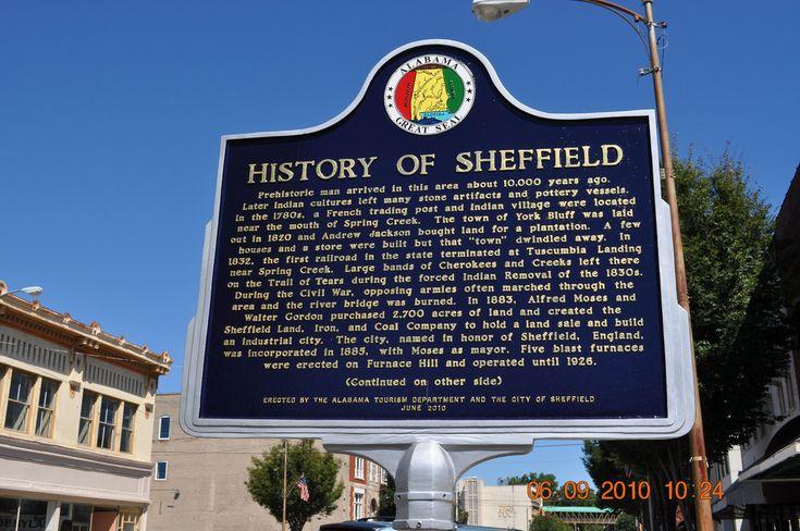 History of Sheffield Alabama