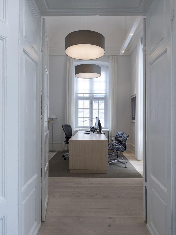 FAB acoustic textile pendants at office, Bredgade, Copenhagen