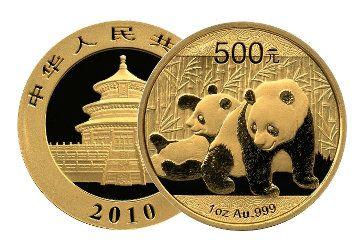 Goldmünzen Panda 2010