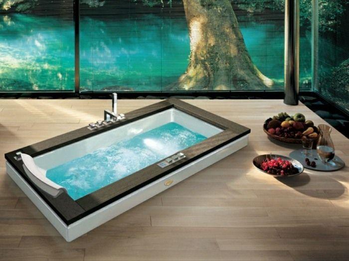 salle de bains design spa la maison jacuzzi rectangulaire - Jacuzzi Salle De Bain Pas Cher
