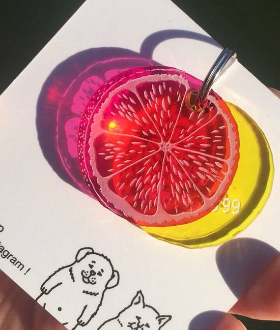 Médaillon pour chien Agrumes - médaille d'identification - orange citron pamplemousse mandarine - plexiglas transparent - lasercutting