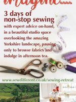 Sew Different bring you the opportunity to escape from the city and create a stylish garment in a beautiful studio location. Enjoy 3 days in picturesque West Yorkshire, chatting with fellow sewists, browsing fabrics, indulging in afternoon tea and enjoying the historic landscape. Choose from the Sew Different range of sewing patterns, and, with the…