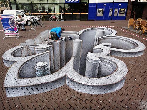 3D Streetpainting | Juandres Vera (MEX). LelystART (2011) Le… | Lelystad | Flickr