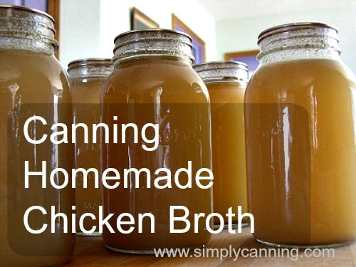 Homemade Chicken Broth. How to make and home canning broth or stock.http://www.simplycanning.com/homemade-chicken-broth.html