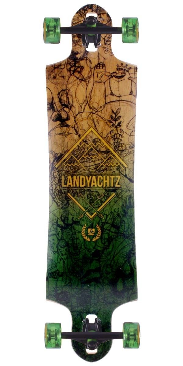 My Board  Landyachtz Switchblade 38 Caliber 50 Trucks Abec 11 Classic Free  Rides   Center Set Bones Reds Bearings