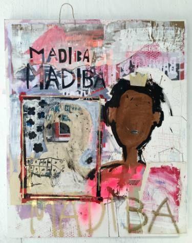"Saatchi Art Artist Manuela Karin Knaut; Painting, ""Madiba, Madiba"" #art"