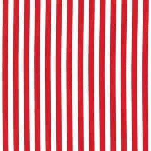 Michael Miller House Designer - Stripes - Clown Stripe in Red. Haethornethreads has other color options