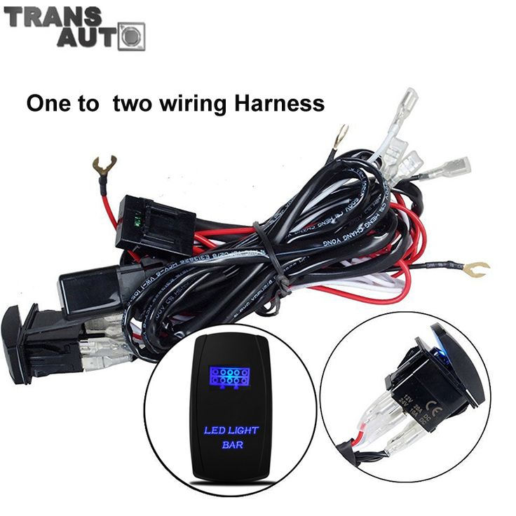 Universal Car Wiring Harness Kit Loom One To Two Fuse
