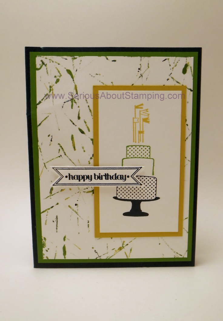 Marble background birthday card by Charmaine, Make a Cake