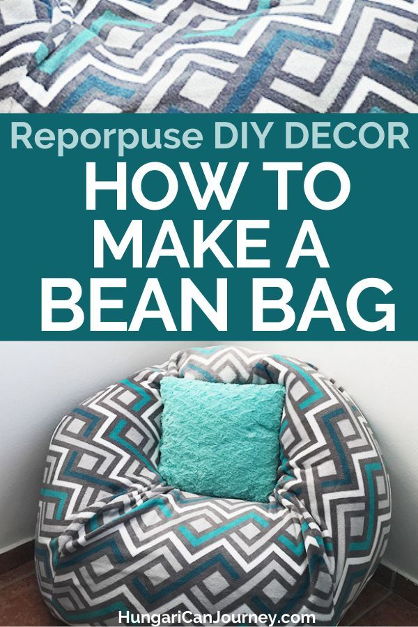 How To Make A Bean Bag Chair Out Of Old Blankets Bean Bag Chair