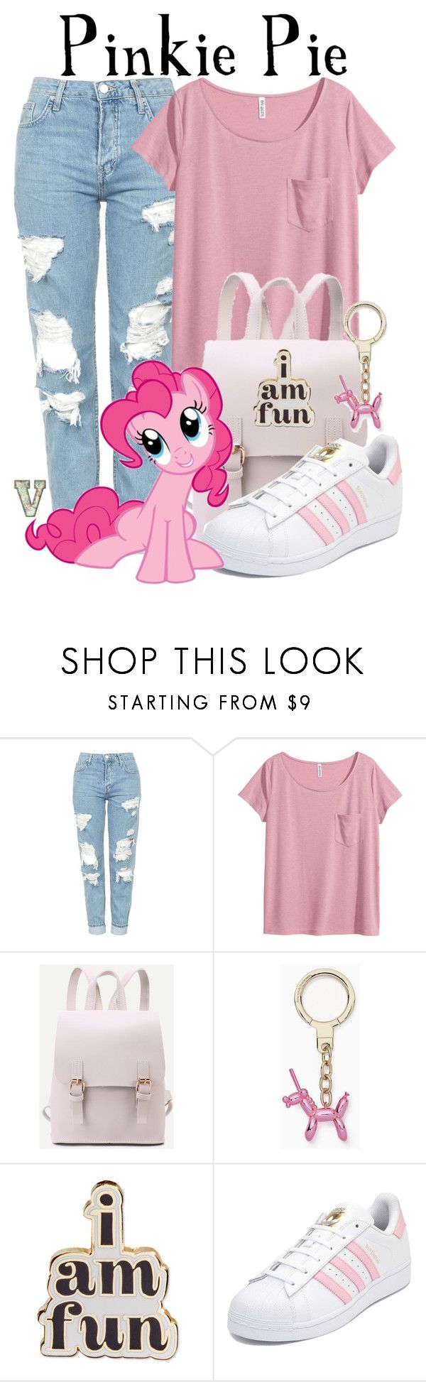 """""""Pinkie Pie (My Little Pony: Friendship is Magic)"""" by fabfandoms ❤ liked on Polyvore featuring Topshop, H&M, Kate Spade, ban.do, adidas and My Little Pony"""