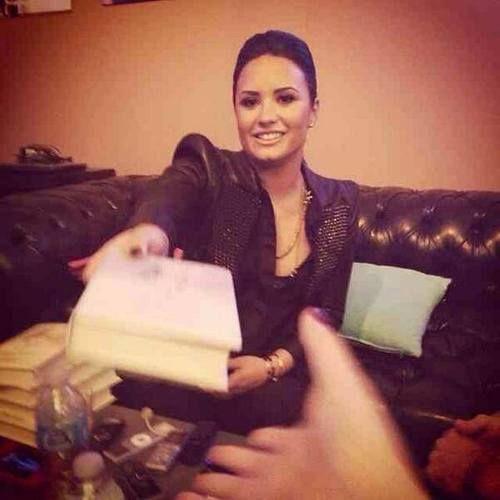 Factor Book Signing Demi Lovato