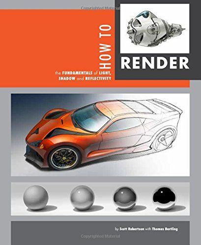 How to Render: the fundamentals of light, shadow and reflectivity by Scott Robertson http://www.amazon.com/dp/1933492961/ref=cm_sw_r_pi_dp_OlGsub10Z089D