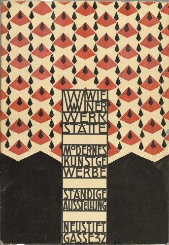 Josef Hoffmann. Original design for the opening of the Wiener Werkstätte Showroom (1905).