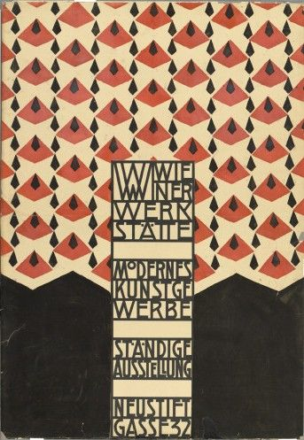 Josef Hoffmann. Original design for the opening of the Wiener Werkstätte Showroom (1905).: