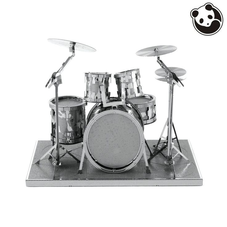 Pandamodel@MUSICAL INSTRUMENTS 3D Metal Model Puzzles DRUM SET Chinese Metal Earth Stainless Steel Creative Gifts ICONX