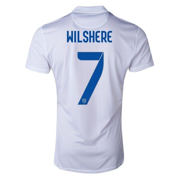 18a079cf8c1 2014 Nike England WILSHERE Authentic Home Men s Soccer Jersey ...
