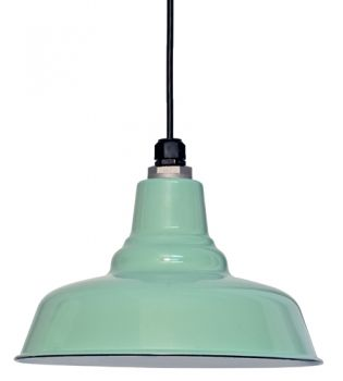 mint green warehouse pendant