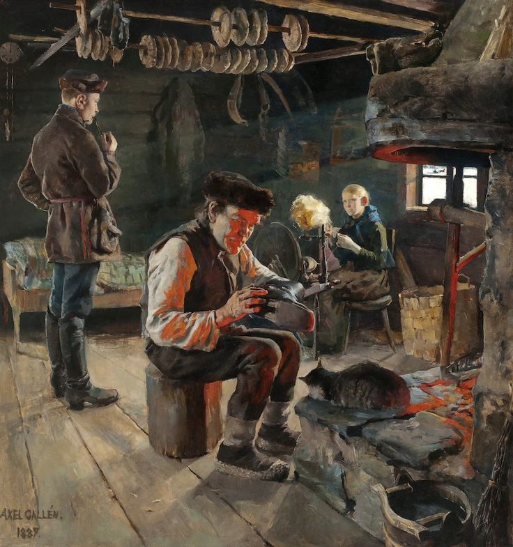 Akseli Gallen-Kallela/ Rustic Life / The painting Rustic Life eventually ended up in Russia and travelled a mysterious path in the wake of the Russian Revolution.