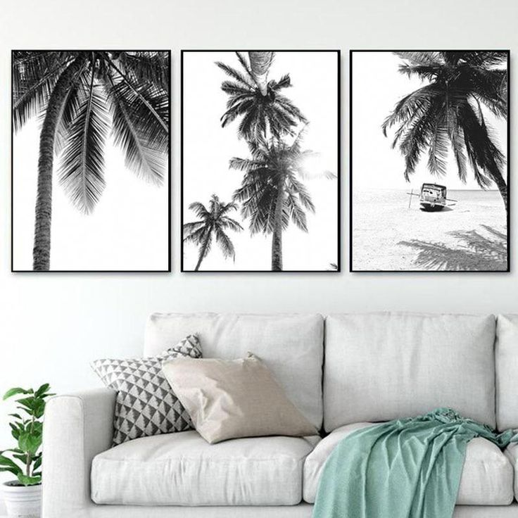 Palm trees canvas print #ModernHomeDecorInteriorDesign   – Modern Home Decor Interior Design