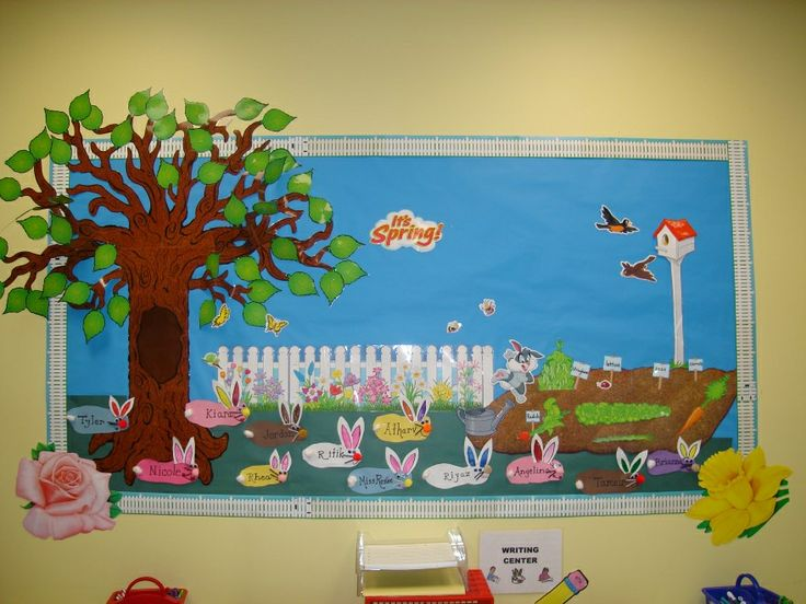 Easter Board Bulletin Spring Decoration Preschool