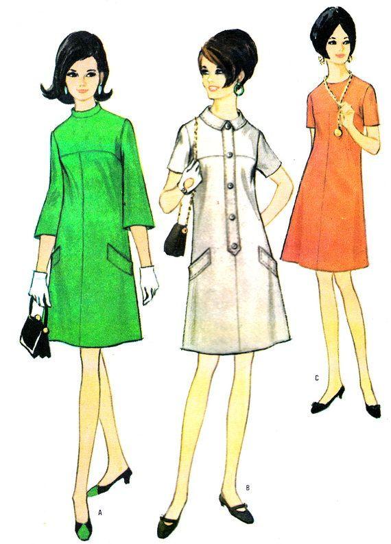 1960s Dress Pattern McCalls 8904 Mod Yoked A Line by paneenjerez, $10.00