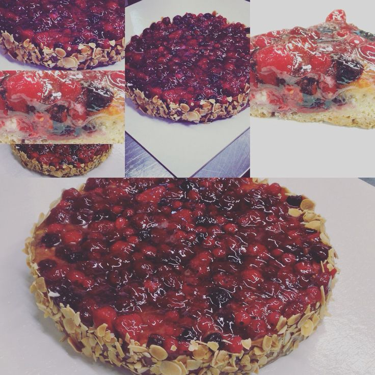 #fruitrouge #tart #redfruits #fruittart #healthy #almonds #berries    Tart red fruits! Sweet base biscuit,almond vanilla and red fruits mix frangipane, topped with red fruits garnish