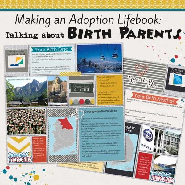 Tips for creating an #Adoption Lifebook - Talking About Birth Parents | #Scrapbooking