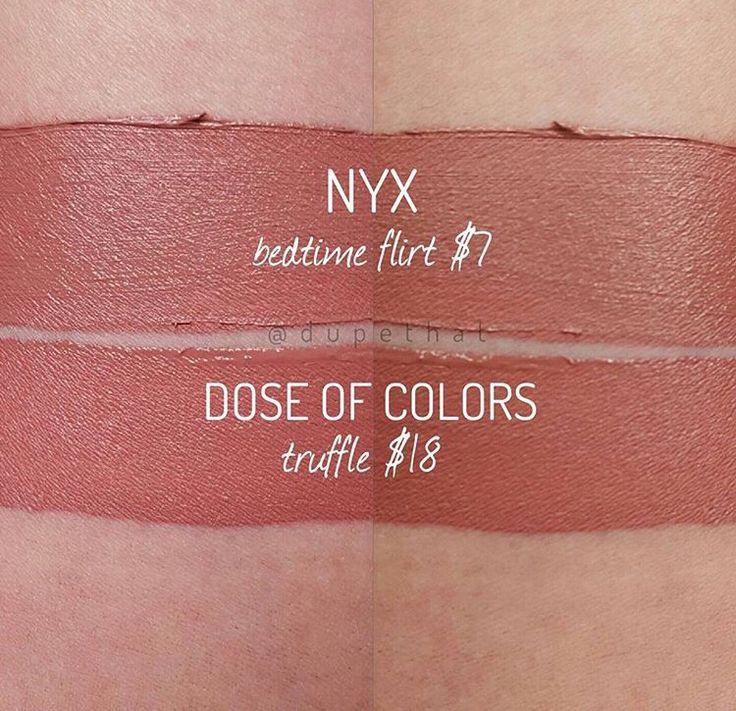 NYX Lingerie Bedtime Flirt* vs DoC Truffle*