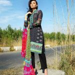 Black Color Khaadi Summer Lawn Fashion 2015