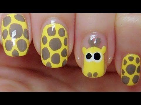 Cute Giraffe Nail Art Tutorial {How To}