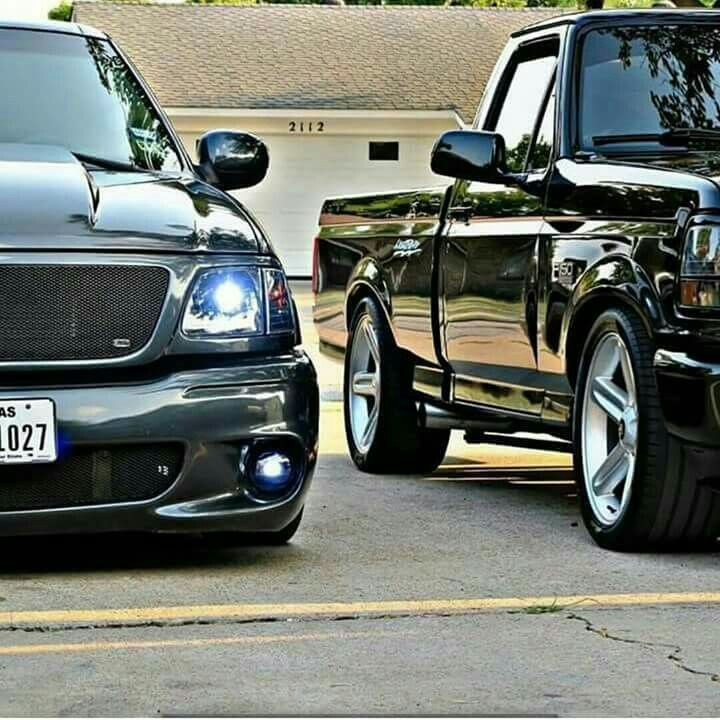1st and 2nd gen Ford F150 Lightnings!