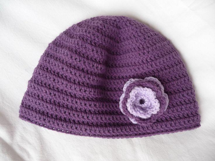 Dámská háčkovaná čepice