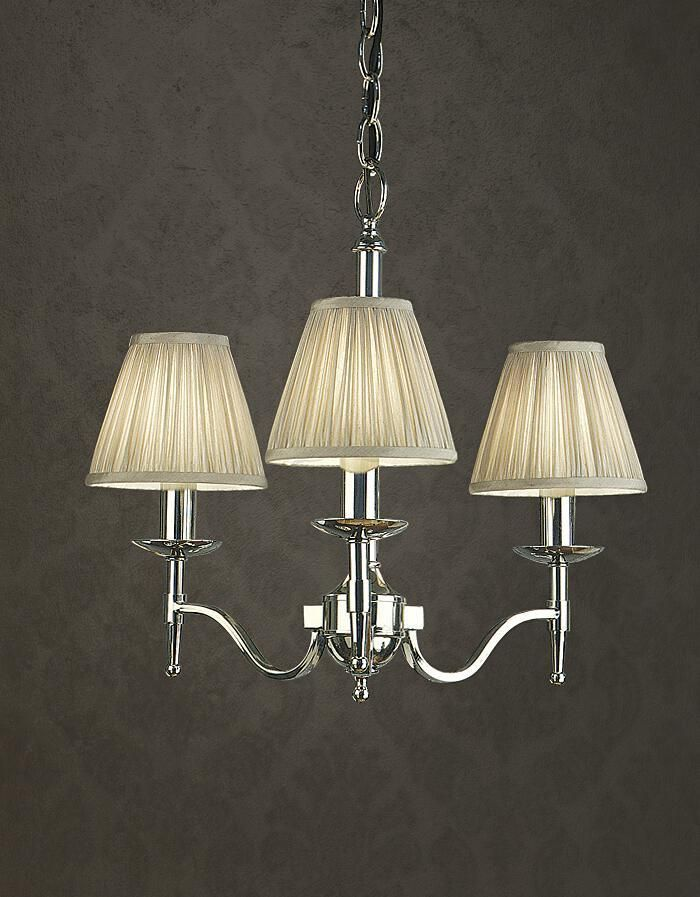 Stanford 3 Light Nickel Chandelier