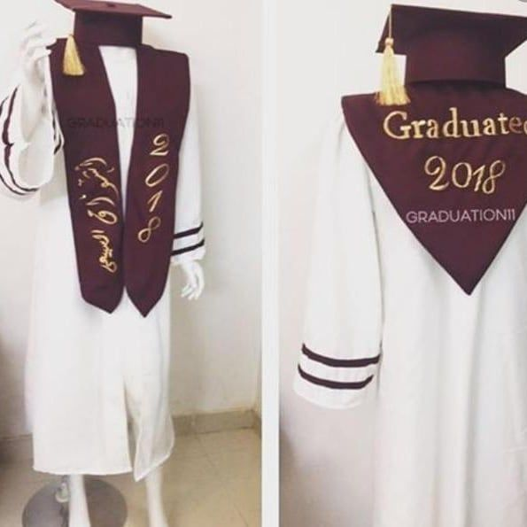 Pin By Salma On Sash Graduation Gown Fashion Gowns