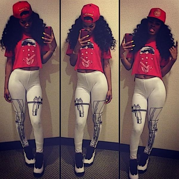 Celebrity Sneaker Watch: Teyana Taylor Posted Up In 'Chicago' 10′s