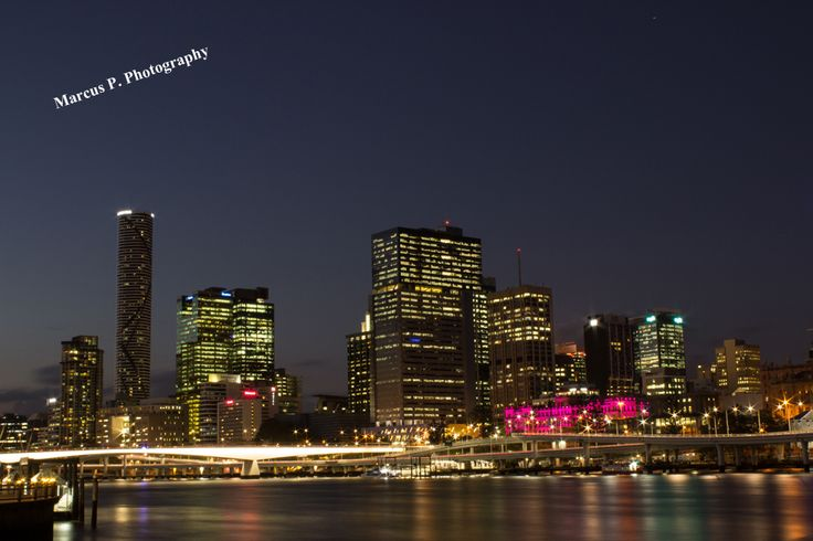 From one of my recent walks around Brisbane city. The cityscape as viewed from Southbank. ISO 100, f 22, 30 sec.