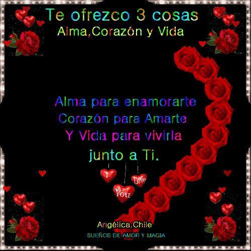 Frases De Amor Con Movimiento Con Un Corazon De Rosas Rojas Enigma