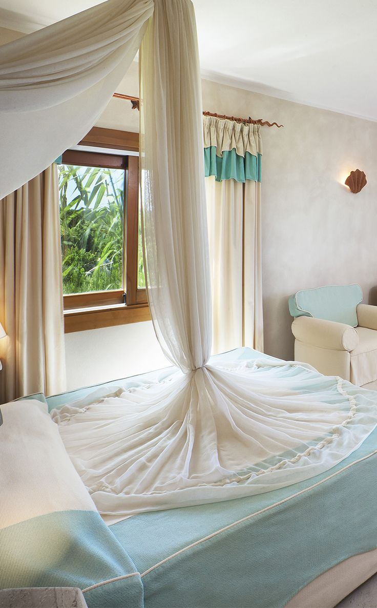 #Resort #ValledellErica #Luxurious #beachfront #rooms decorated in Mediterranean style.