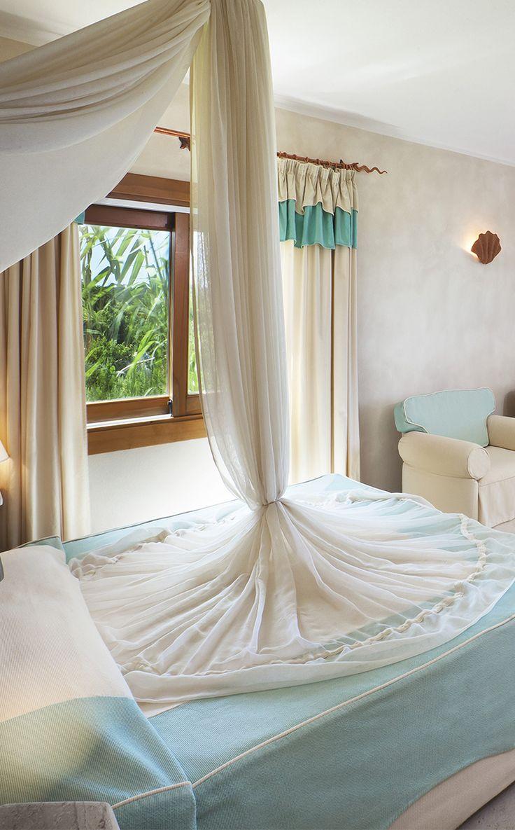 #Resort #ValledellErica #Luxurious #beachfront #rooms decorated in Mediterranean style.