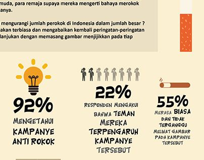 """Check out new work on my @Behance portfolio: """"Infographic - Stop Merokok"""" http://on.be.net/1ezk1ZT"""