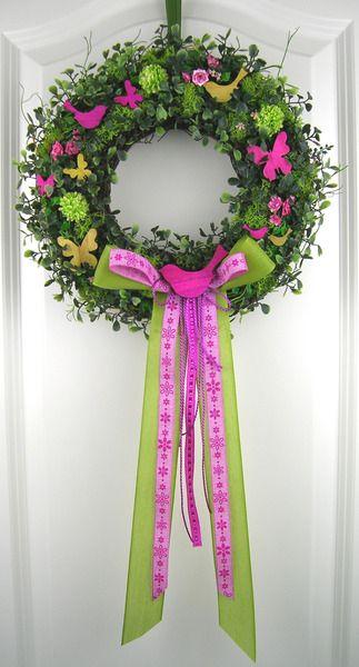 Frühjahrskranz Türkranz Frühling Wandkranz Ostern von My Home Fashion auf DaWanda.com
