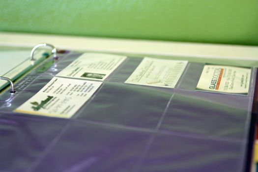 """IHeart Organizing: March Challenge: Project """"Household Binder""""  (shown here, for credit, shopping and business cards)"""