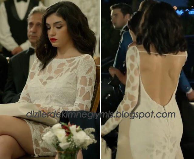 Medcezir - Eylül (Hazar Ergüçlü), White Dress