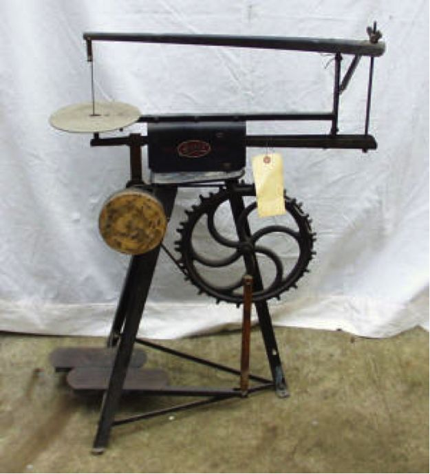 Antique Scroll Saw: 15 Best Barnes Velocipede Scroll Saw #2 In The Late 1800s