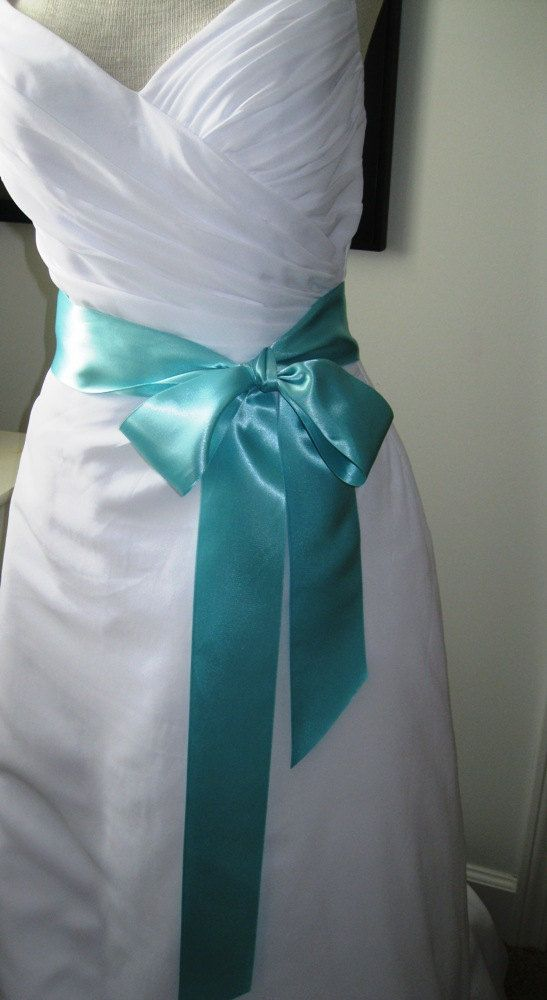 Tiffany Blue Wedding Belt Bridal Sash A Short Satin Ribbon For Your Dress