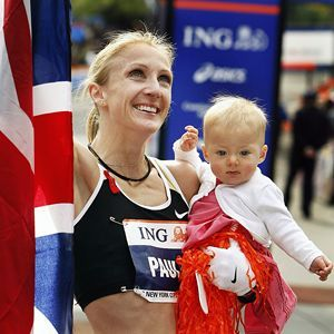Paula Radcliffe - world record holder for women's marathon, and mother