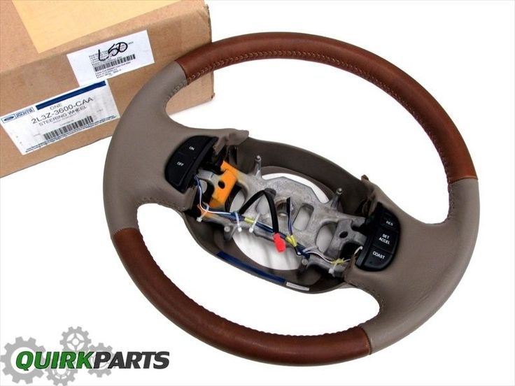 02 03 04 Ford F150 F250 F350 King Ranch Tan Brown Leather Steering Wheel OEM NEW #Ford