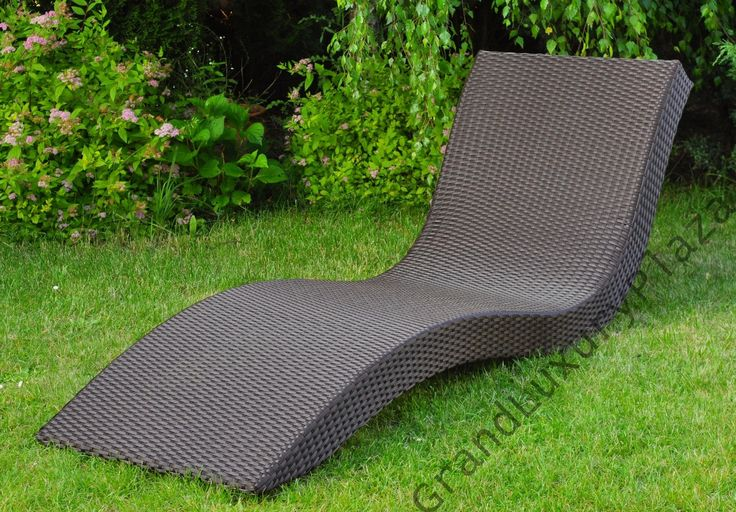 Leżak ogrodowy z technorattanu TROPICANA