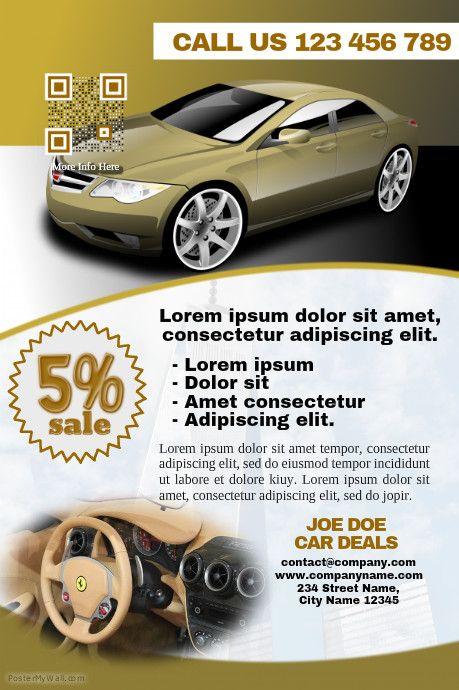 41 best images about car dealer flyer diy on pinterest for Vista print brochures templates
